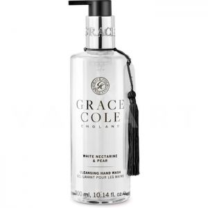 Grace Cole England White Nectarine & Pear Cleansing Hand Wash 300ml Подхранващ течен сапун