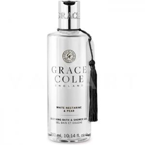 Grace Cole England White Nectarine & Pear Soothing Bath Shower gel 300ml Успокояващ душ гел