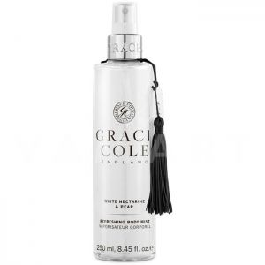 Grace Cole England White Nectarine & Pear Refreshing Body Mist 250ml Освежаващ спрей за тяло