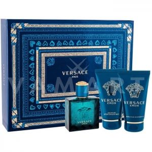 Versace Eros Eau De Toilette 50ml + Shower Gel 50ml + Aftershave Balm 50ml мъжки комплект