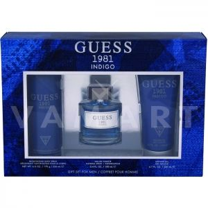 Guess 1981 Indigo for Men Eau de Toilette 100ml + Shower Gel 200ml + Deodorant spray 226 ml мъжки комплект
