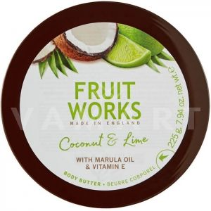 Grace Cole Fruit Works Coconut & Lime Body Butter 225g Масло за тяло