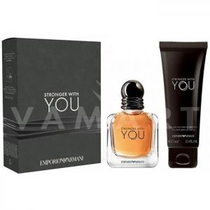 Armani Stronger With You Eau de Toilette 50ml + All Over Body Shampoo 75ml мъжки комплект
