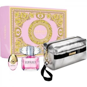 Versace Bright Crystal Eau de Toilette 90ml + Eau de Toilette 10ml + Silver Pouch Несесер Дамски комплект