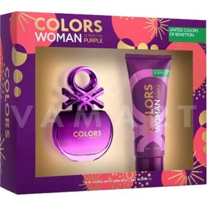 Benetton Colors Purple Eau de Toilette 80ml + Body Lotion 75ml дамски комплект