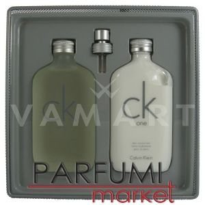 Calvin Klein CK One Eau de Toilette 200ml + Body Lotion 200ml унисекс комплект