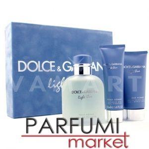 Dolce & Gabbana Light Blue Pour Homme Eau de Toilette 125ml + After Shave Balm 75ml + Shower Gel 50ml мъжки комплект