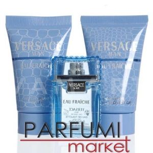 Versace Man Eau Fraiche Eau de Toilette 5ml + Shower Gel 25ml + After Shave Balm 25ml мъжки комплект