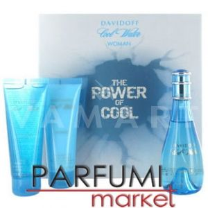 Davidoff Cool Water Woman Eau de Toilette 100ml + Body Lotion 75ml + Shower Gel 75ml дамски комплект