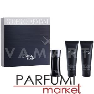 Armani Code Pour Homme Eau de Toilette 50ml + After Shave Balm 75ml + Shower Gel 75ml мъжки комплект