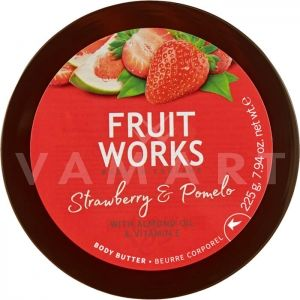 Grace Cole Fruit Works Strawberry & Pomelo Body Butter 225g Масло за тяло